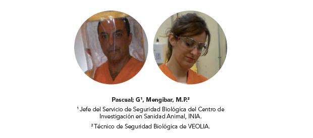 Descontaminación de cabinas de seguridad biológica mediante la aplicación de Virkon, perasafe y ceber MPW