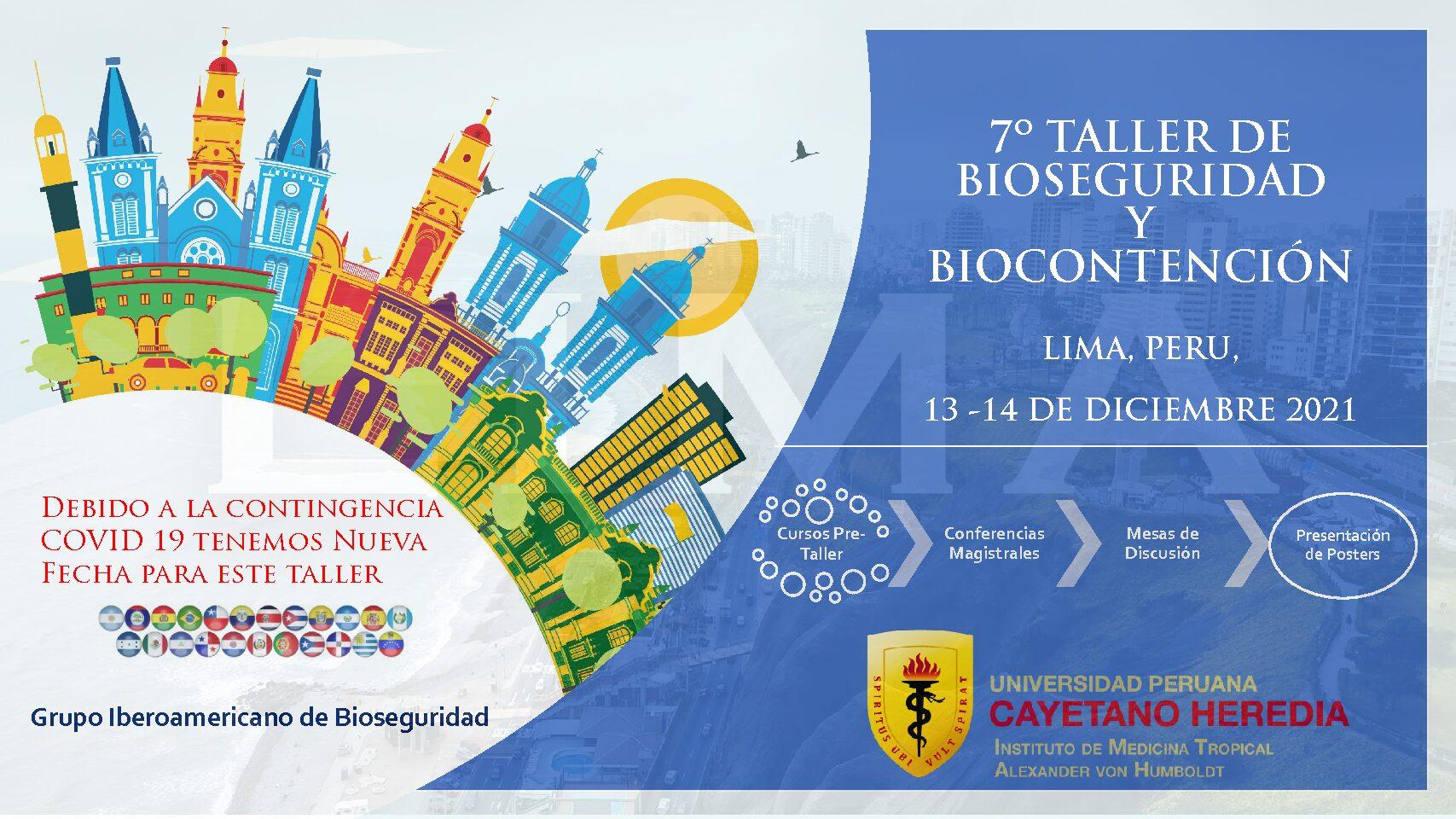 ACTUALIZADA – 7º Taller de Bioseguridad y Biocontención – Lima, Peru – Diciembre 2021