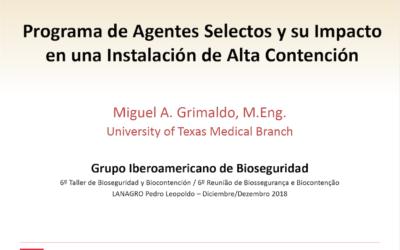 Programa de Agentes Selectos y su Impacto en una Instalación de Alta Contención